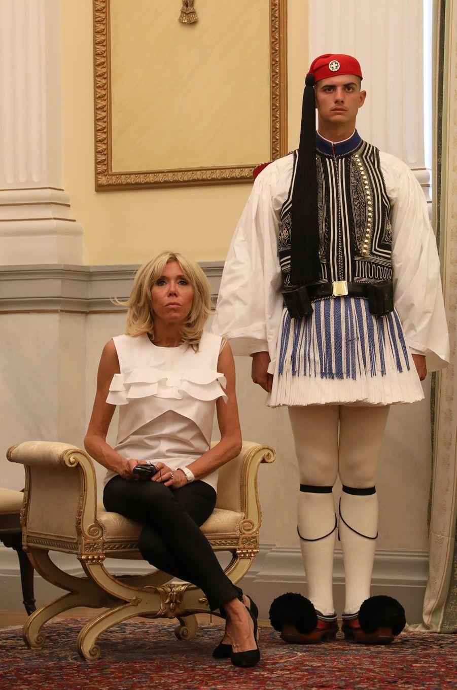 Brigitte Macron à Athènes le 7 septembre, 2017.
