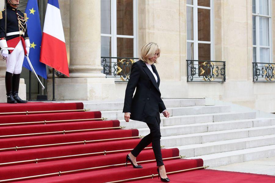 Brigitte Macron à l'Elysée, le 25 septembre 2017.