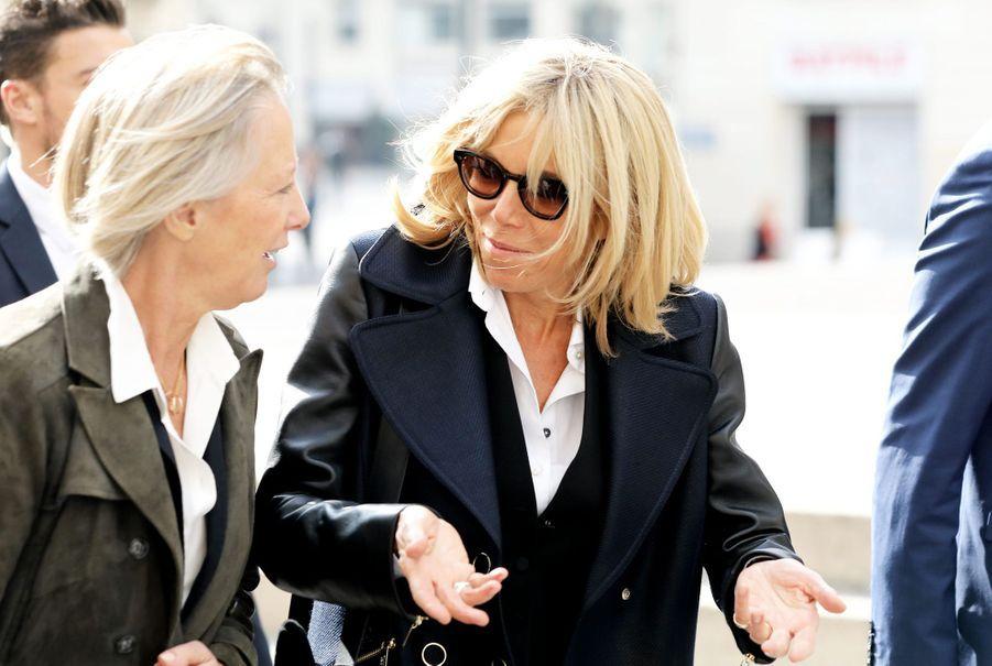 Brigitte Macron et la secrétaire d'Etat Sophie Cluzel à Nantes pour un déplacement sur le thème du handicap.