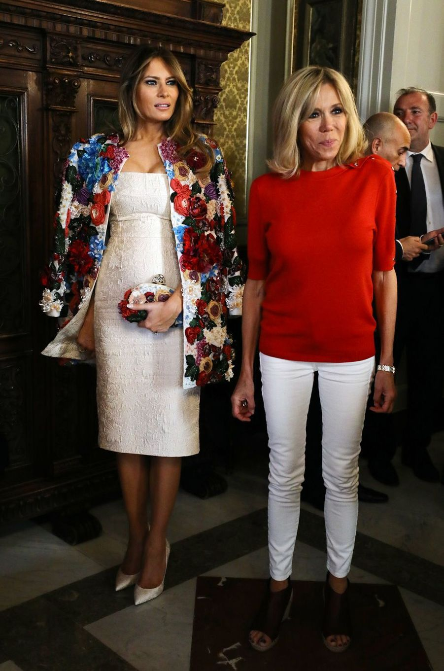 Melania Trump et Brigitte Macron, en visite à Catane en Sicile, le 26 mai, en marge du G7 à Taormine.