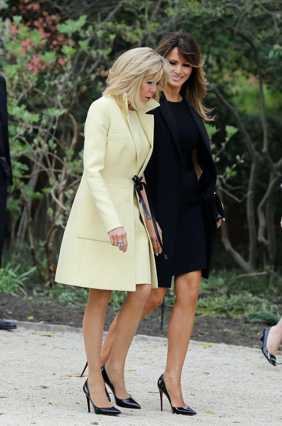 Melania Trump et Brigitte Macron à Mount Vernon, aux Etats-Unis, le 23 avril 2018.