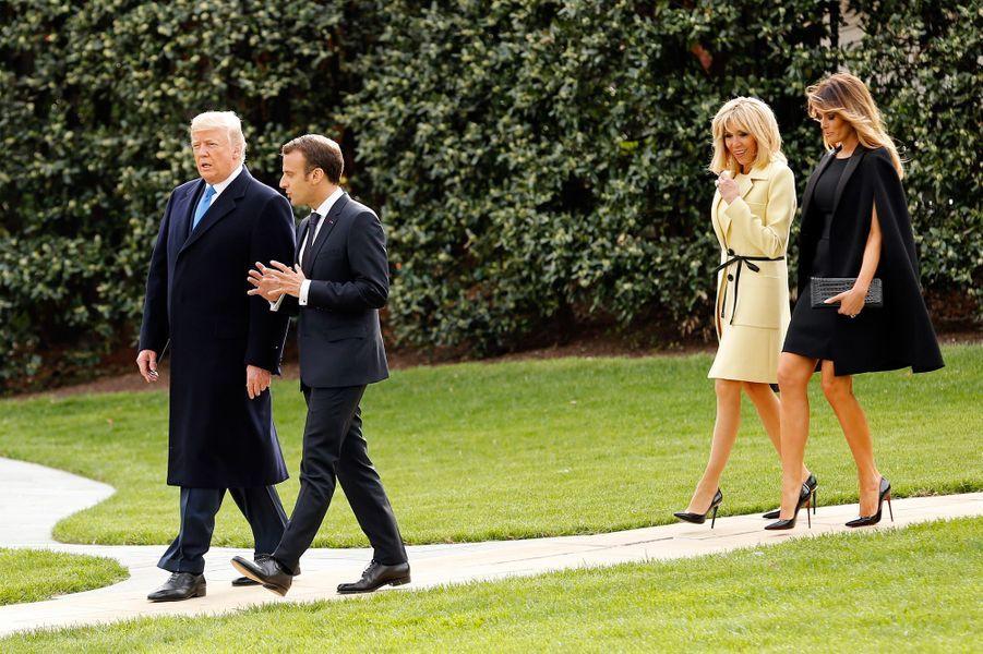 Donald Trump et son épouse Melania ont reçu le couple Macron à l'occasion d'une visite d'Etat, la première de la présidence Trump.