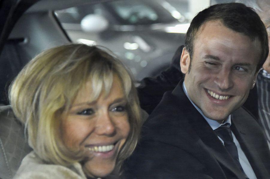 Arrivée du couple Macron au Mans, le 11 octobre