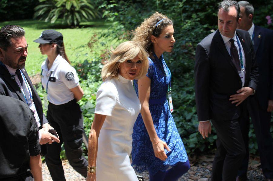 Brigitte Macron àla Villa Ocampo à San Isidro.