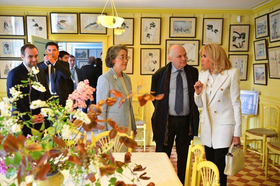 Brigitte Macron mardi, à Giverny.