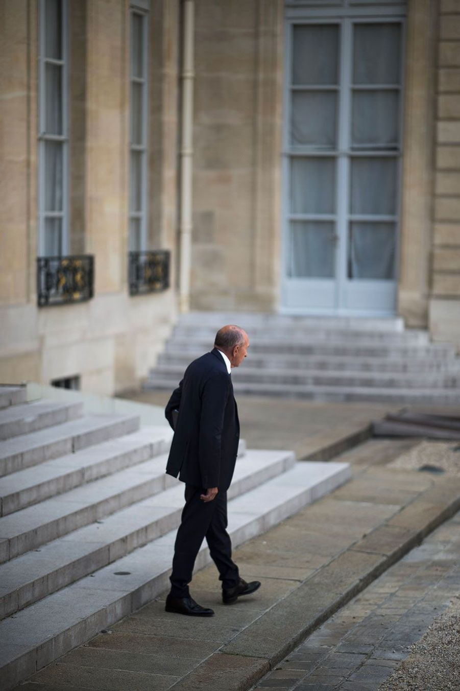 Gérard Collomb, mercredi à l'Elysée.