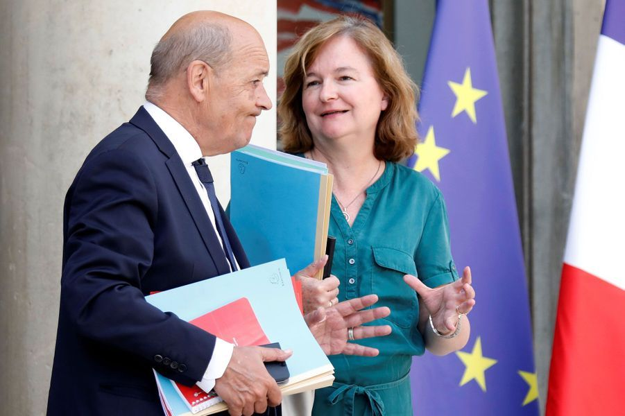 Jean-Yves Le Drian et Nathalie Loiseau, mercredi à l'Elysée.