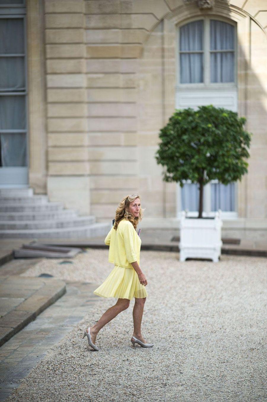 Nicole Belloubet, mercredi à l'Elysée.
