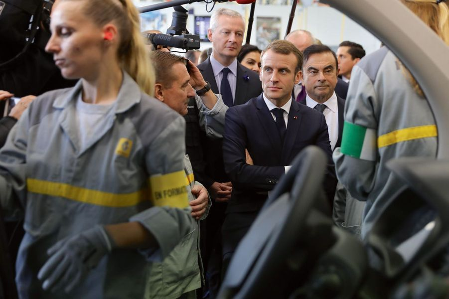 A l'usine Renault de Maubeuge (Nord), le 8 novembre.
