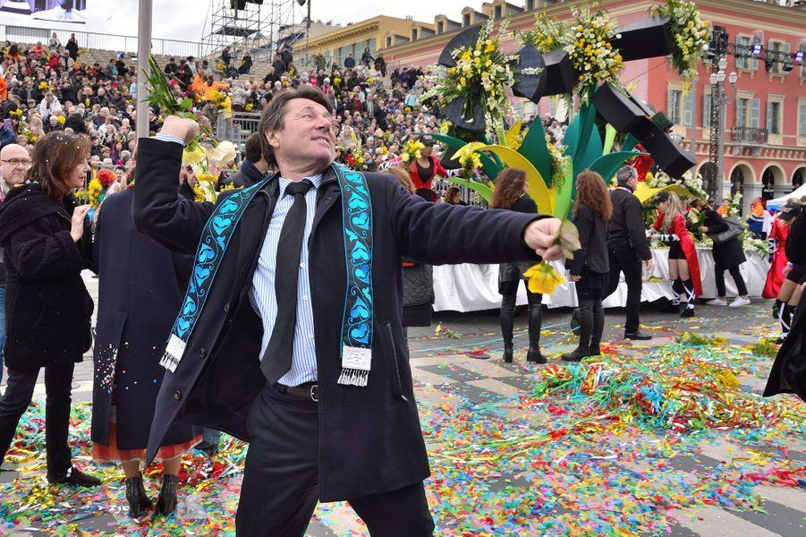 Christian Estrosi au carnaval de Nice.