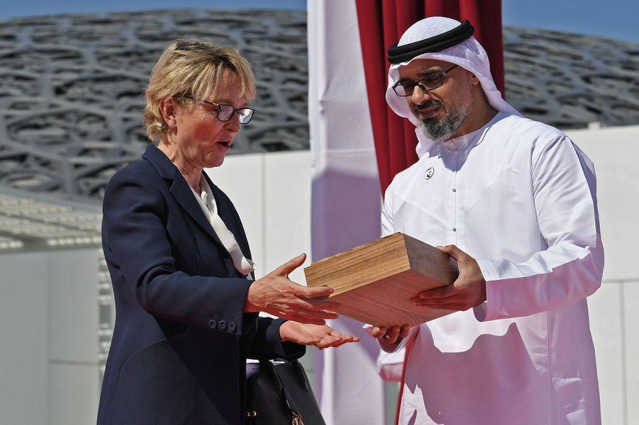 Claude Chirac et leCheikh Khalid bin Mohammed bin Zayed al-Nahyan