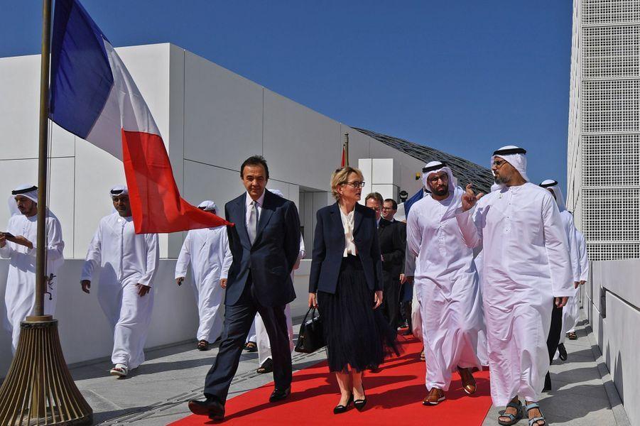 Claude Chirac à l'inauguration de l'avenue Jacques Chirac à Abu Dhabi