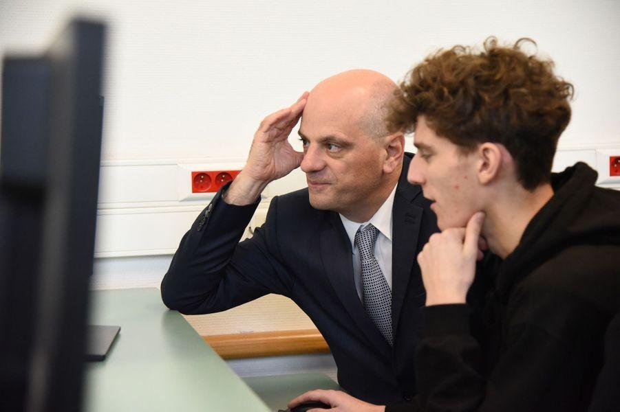 Jean-Michel Blanquer lundiau lycée Buffon pour le lancement de Parcoursup.