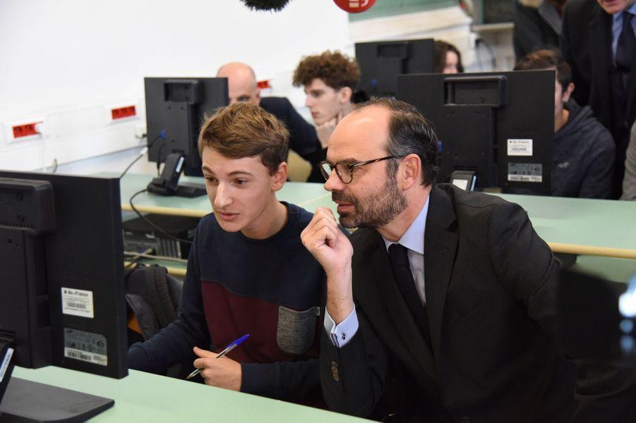 Edouard Philippelundiau lycée Buffon pour le lancement de Parcoursup.