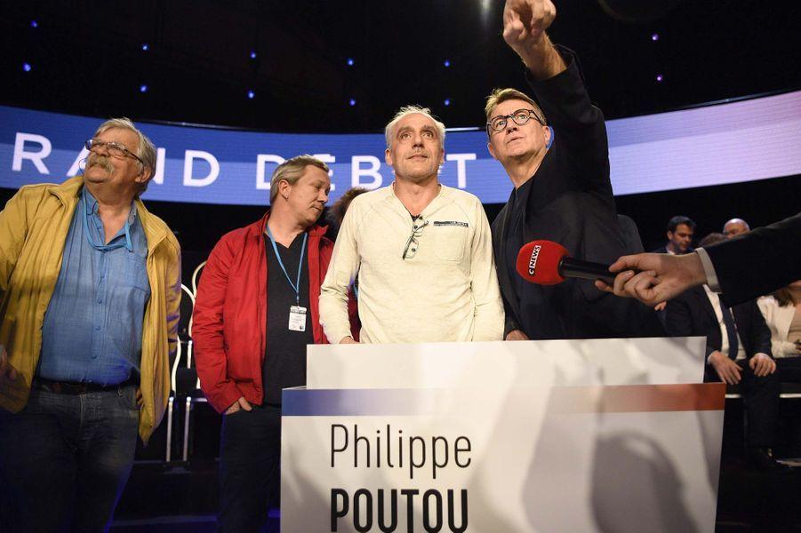 Philippe Poutou avant le débat.