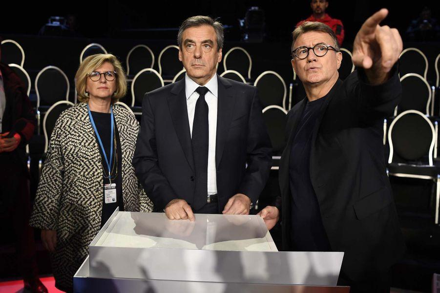 François Filllon avant le débat.