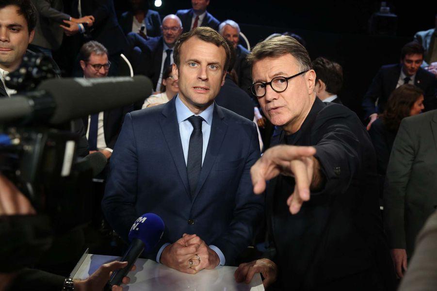 Emmanuel Macron avant le débat.