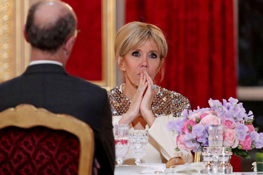 Brigitte Macron lundi soir.