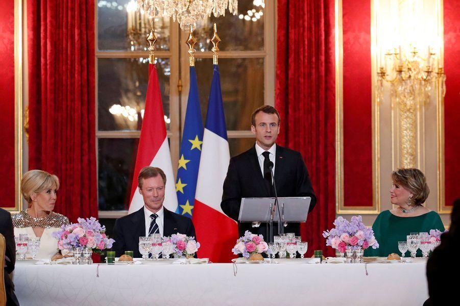Emmanuel Macron s'exprime lundi soir.