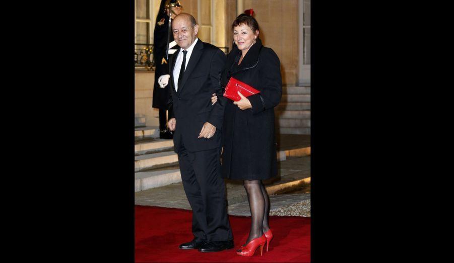 Le ministre de la Défense Jean-Yves Le Drian et son épouse Maria
