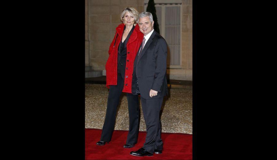Le président de l'Assemblée nationale Claude Bartolone et sa femme