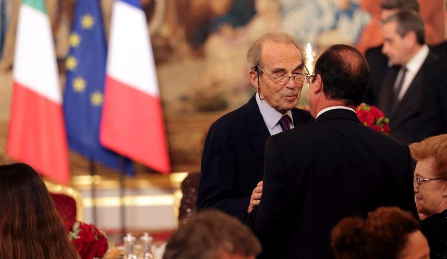 Robert Badinter et François Hollande