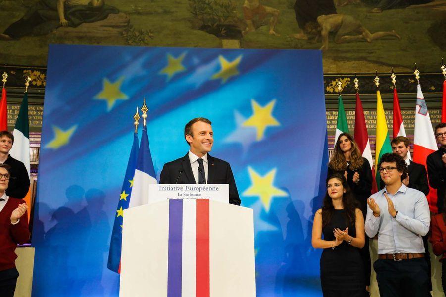 Le discours d'Emmanuel Macron à La Sorbonne.