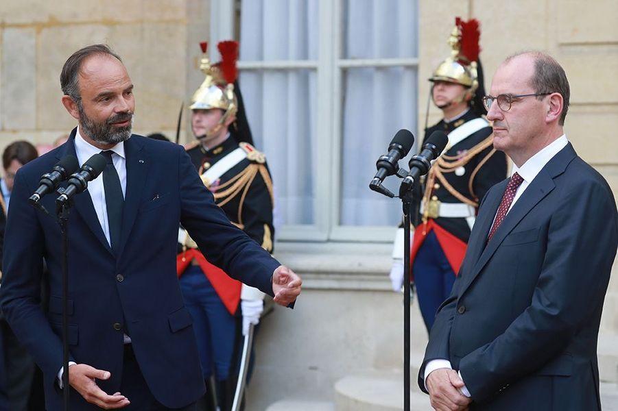 Edouard Philippe et Jean Castex à Matignon.