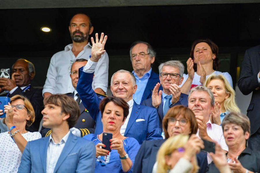 jean-Michel Aulas dimanche soir au stade Océane du Havre pour France-Brésil.