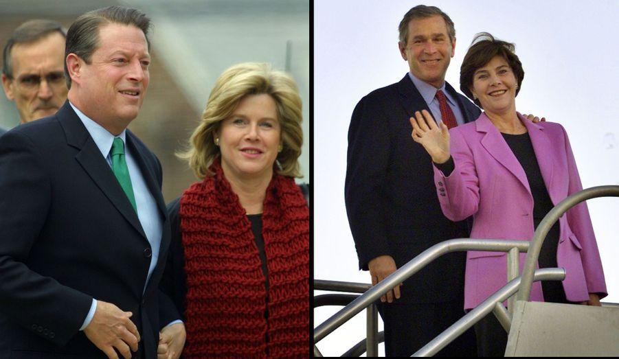 """Al Gore et Mary Elizabeth """"Tipper"""" Aitcheson sont mariés depuis 1970 -bien qu'ils soient séparés à présent. Ils ont eu quatre enfants ensemble: Karenna, Kristin, Sarah et Albert. Auteur et photographe, elle a été """"Second lady"""" pendant les deux mandats de Bill Clinton, dont Al Gore était le Vice-président pour ses deux mandats (1992, 1996)."""