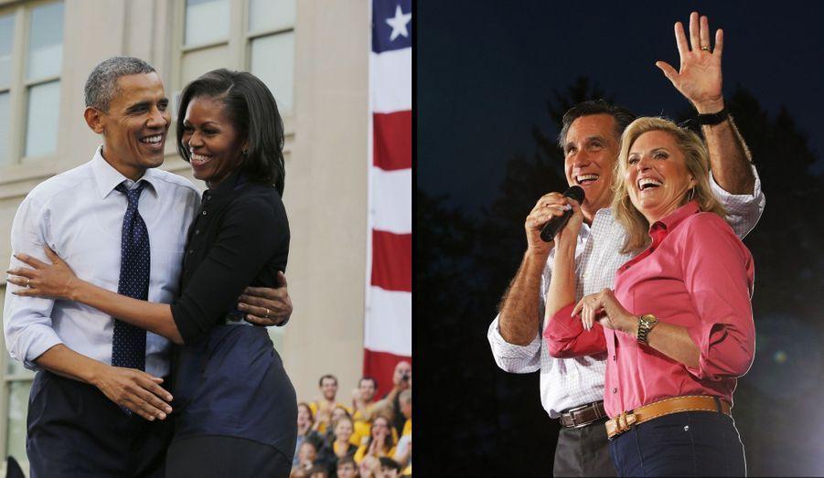Depuis 1992, les Etats-Unis n'ont connu que trois First ladies différentes: Hillary Clinton, Laura Bush et Michelle Obama. Mais auraient pu en voir d'autres s'installer à la Maison Blanche, plus méconnues en France. Retour en images sur 20 ans de (presque) First ladies.Cette élection oppose non seulement Barack Obama et Mitt Romney mais aussi leurs épouses respectives, Michelle et Ann. Toutes deux dans des styles différents, elles restent aux côtés de leurs candidats de maris.