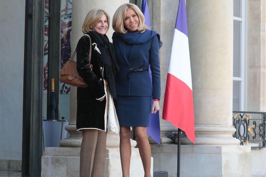 Jamie McCourt, ambassadrice des Etats Unis en France, et Brigitte Macron.