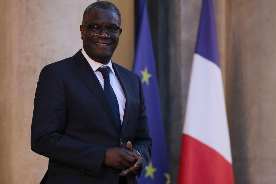 Denis Mukwege arrive à l'Elysée pour leconseil consultatif pour l'égalité entre les femmes et les hommes.