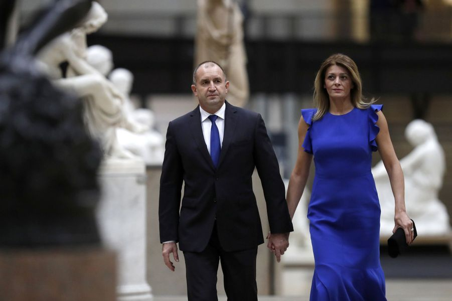 Le Premier ministre bulgare Rumen Radev et sa femme Desislava Radeva