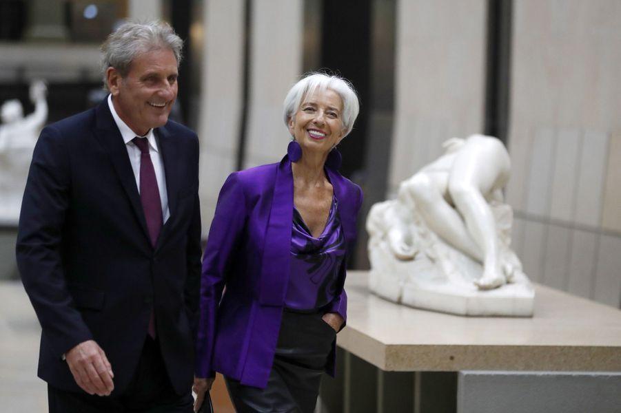 La directrice du FMI Christine Lagarde et son compagnon Xavier Giocanti.
