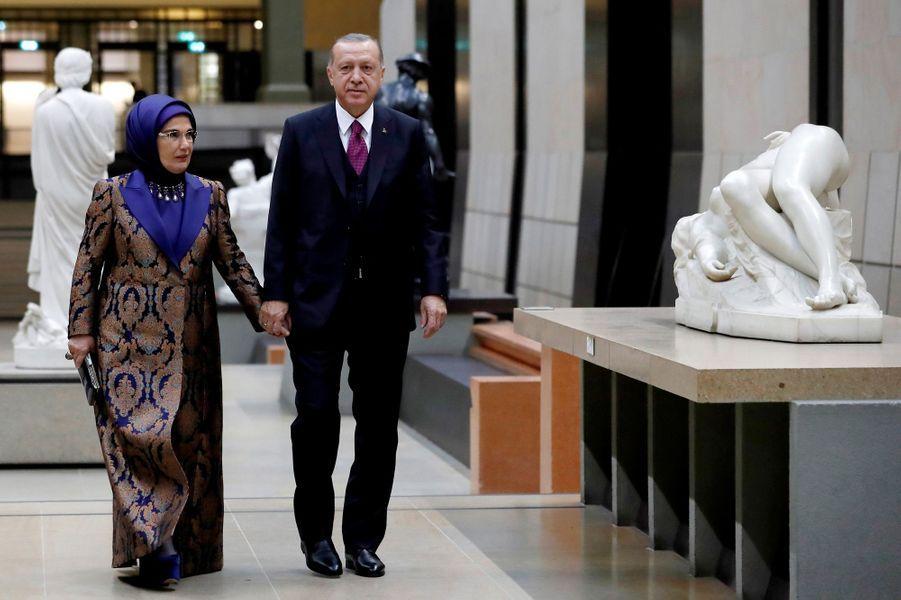 Le président de la Turquie RecepTayyip Erdogan et sa femme Emine Erdogan.