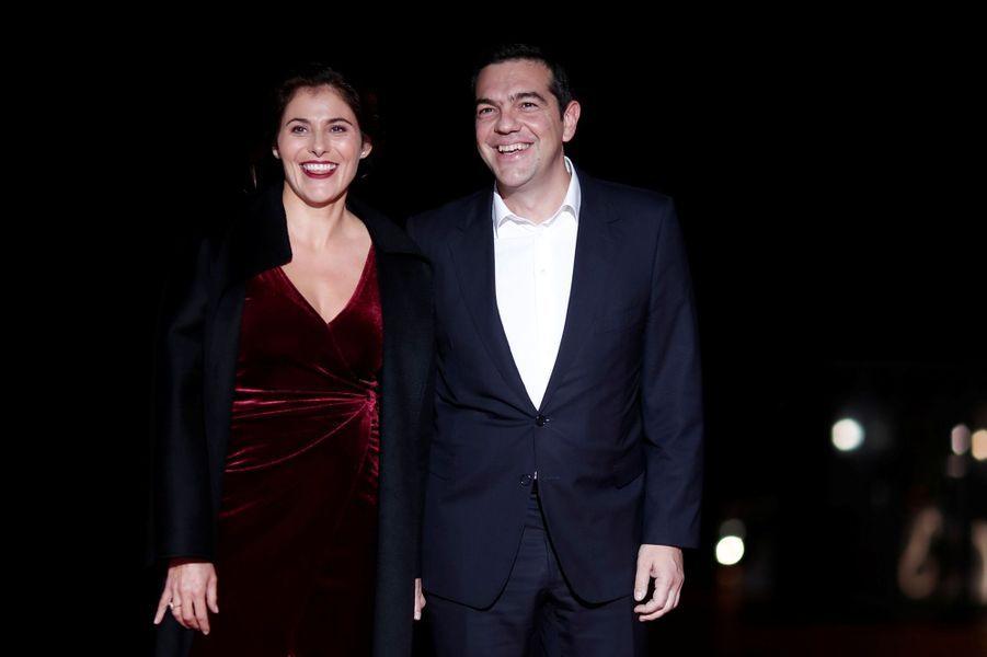 Le Premier ministre grec Alexis Tsipras et sa compagne Peristera Baziana
