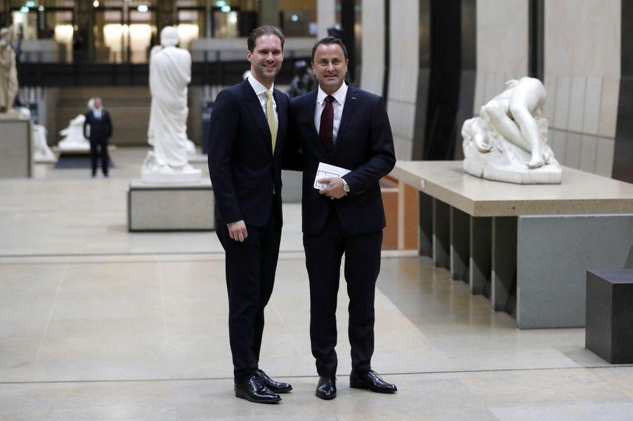 Le Premier ministre luxembourgeois Xavier Bettel et son mari Gauthier Destenay