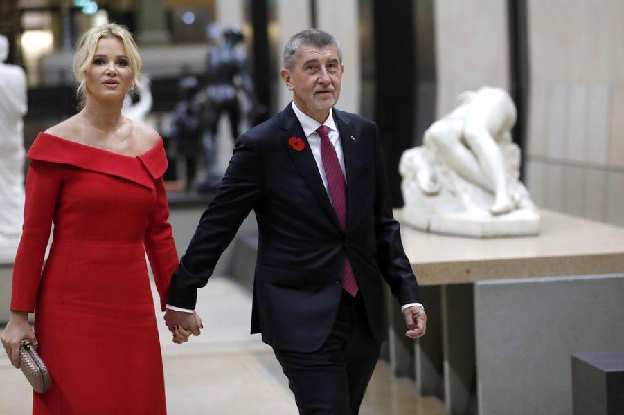 Le Premier ministre tchèque Andrej Babis et sa femme Monika Babisova