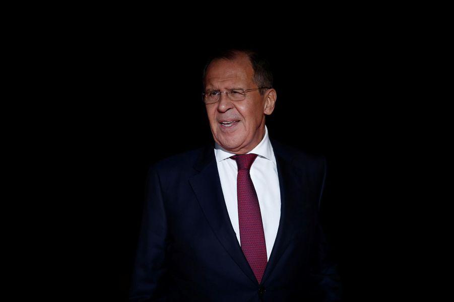 Le ministre russe des affaires étrangères Sergei Lavrov