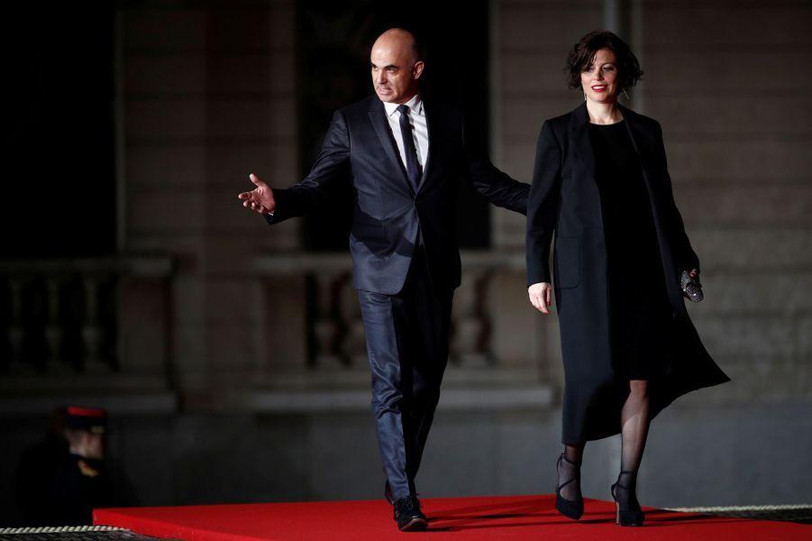 Le président de la confédération suisse Alain Berset et sa femme Muriel Zeender-Berset.