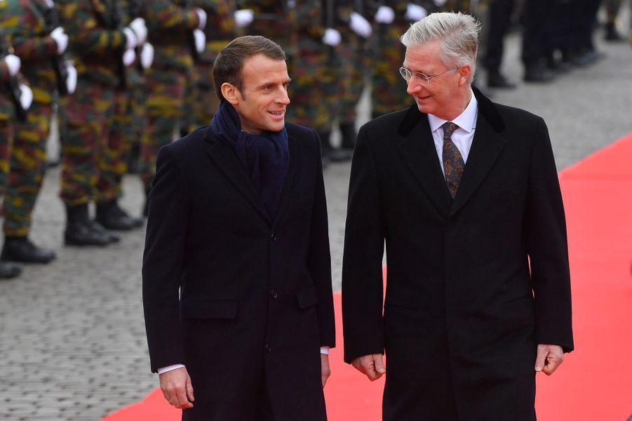 Emmanuel Macron et le roi Philippe.