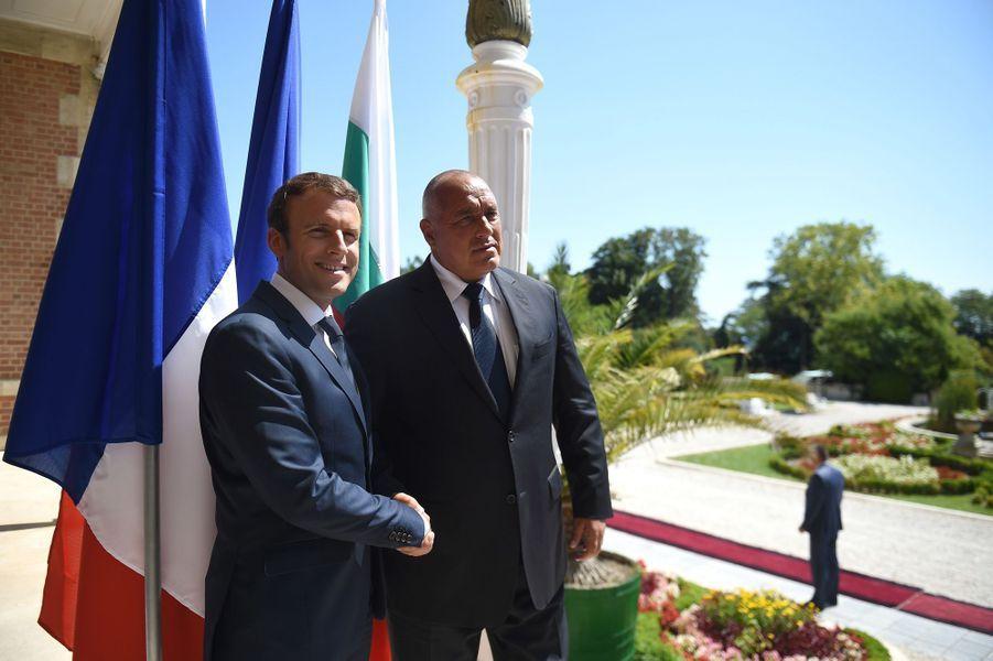 Emmanuel Macron et le Premier ministre bulgare Boïko Borissov.