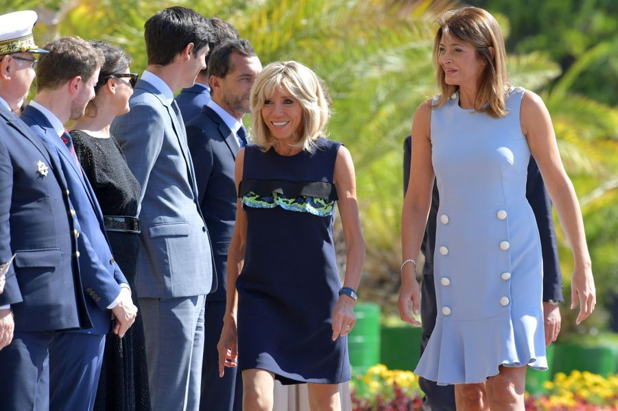 Brigitte Macron en compagnie de Desislava Radeva, épouse du Président de la République de Bulgarie.