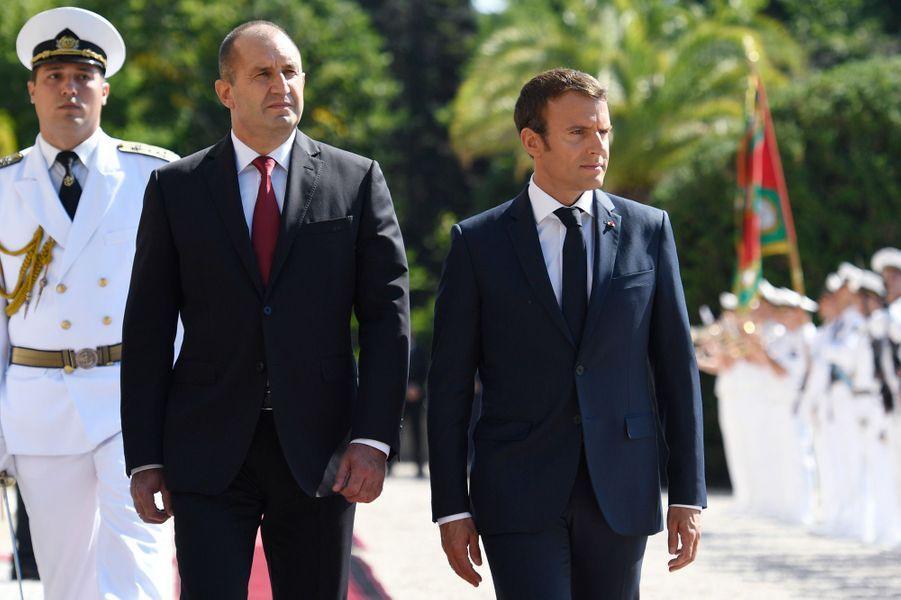 Emmanuel Macron et son homologue bulgare Rouman Radev.