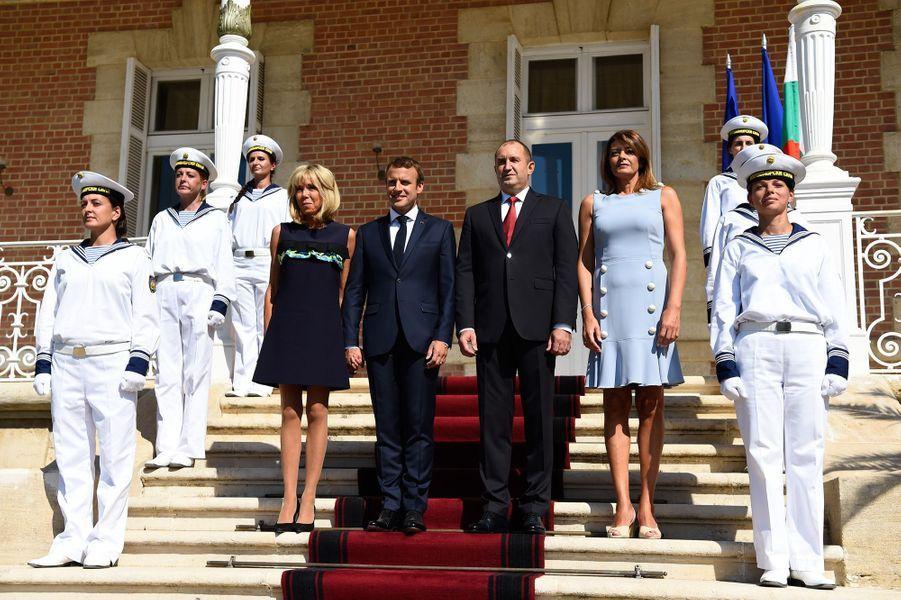 Cérémonie d'accueil au Palais d'Euxinograd.