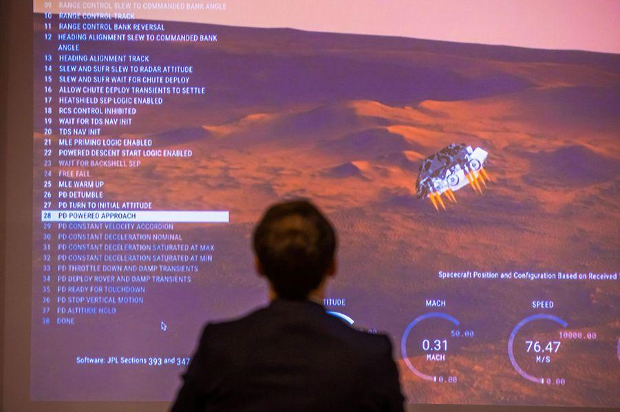 Emmanuel Macron assiste à l'atterrissage sur Mars de «Perseverance».