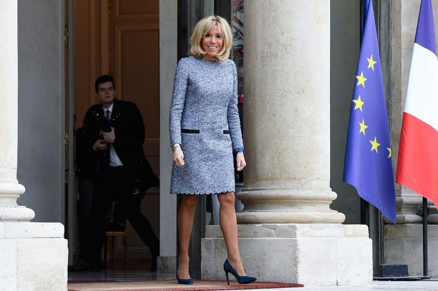 Brigitte Macron à l'Elysée.