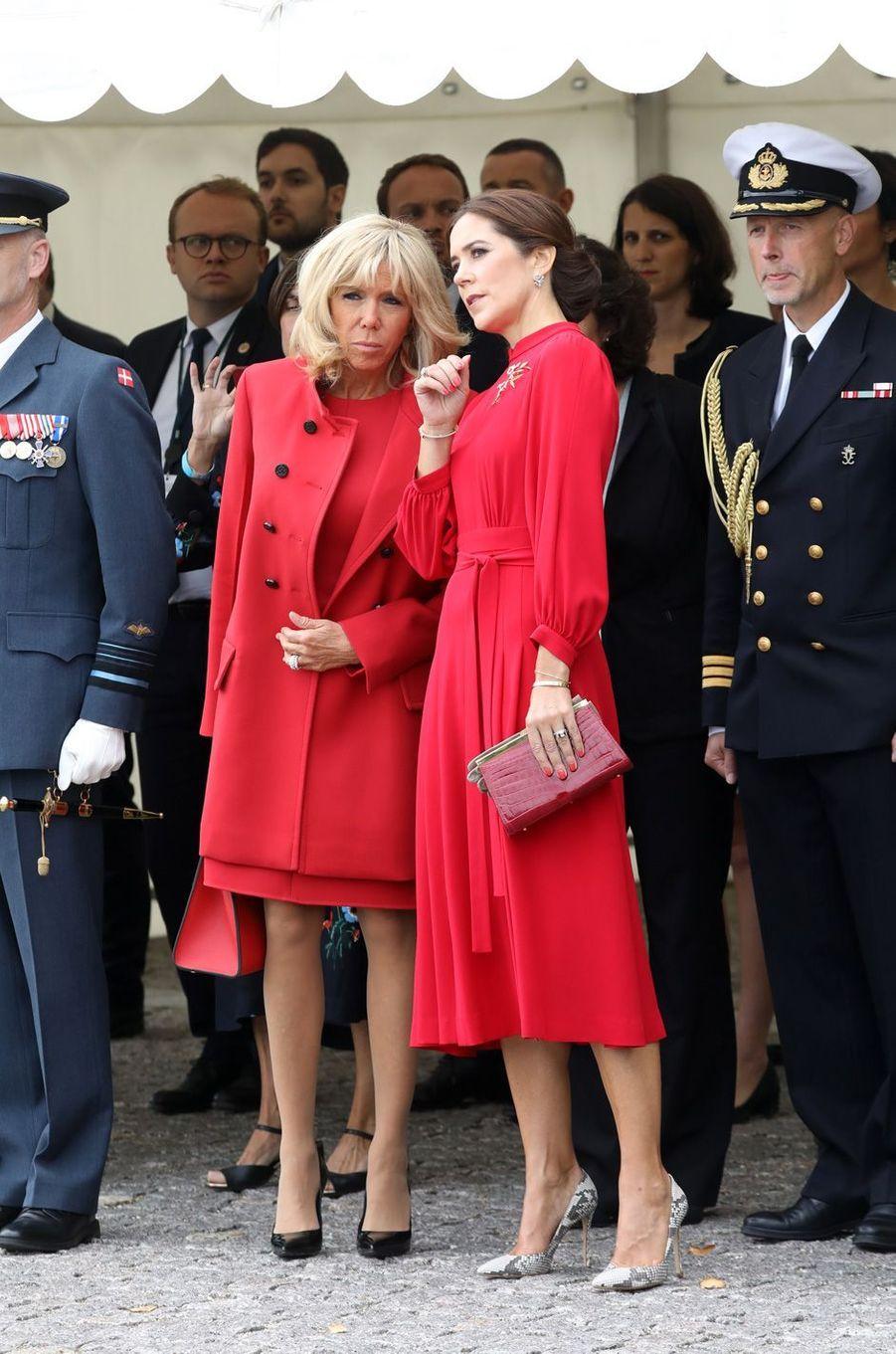 Brigitte Macron et la princesse Mary de Danemark, à la Citadelle à Copenhague.