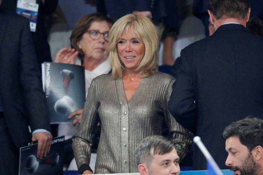 Brigitte Macron au Stade de France dimanche.